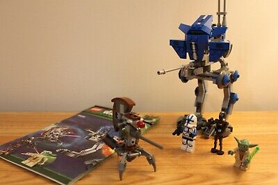 Lego Set 75002 Star Wars AT-RT 501st Trooper, Yoda, Commando Droid Complete • 20.99£