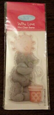 Me To You Clear Crafting Stamp With Love • 1£