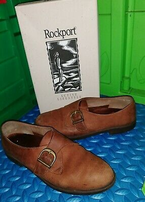Women's Rockport Brown Leather Slip-On Shoes - Size UK 5.5 (Eur 38.5) - Boxed • 12.99£