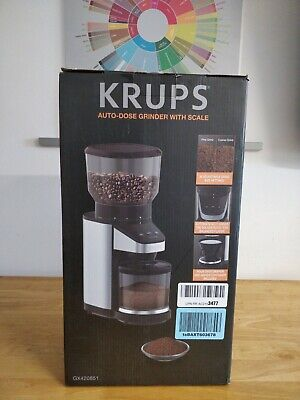 KRUPS Coffee Grinder With Scale, 39 Grind Settings, Missing Lower Container Part • 55.46£