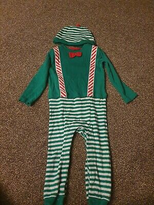 Marks And Spencers Boys Elf Romper Suit With Matching Hat, 18-24 Months  • 1£