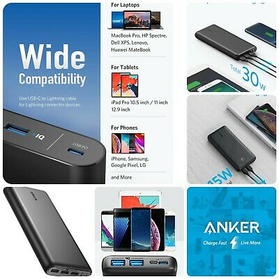 AU171.14 • Buy 🔋⚡Anker 26800mAh Portable Charger Power Bank External Battery IPhone Samsung