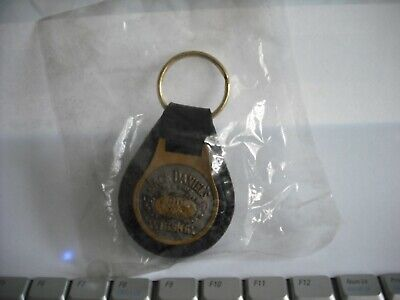 1 Rare In Packet Jack Daniels Old No 7 Leather And Brass Keyring • 100£