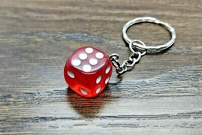 $4.48 • Buy Dice Key Ring Key Chain - Keyring Keychain Multi Colour D&D Board Game Boardgame