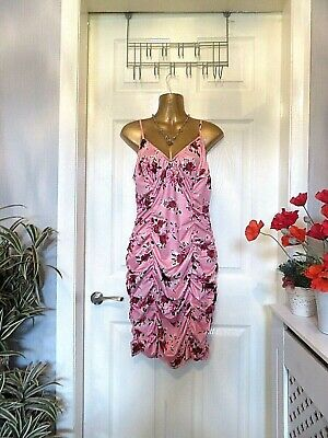 Quiz Pretty Floral Any Occasion  Stretch Ruched Dress Size 16 • 6£