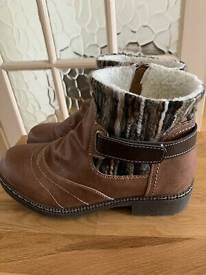 Brand New Pavers Knitted Cuff Ankle Boot Size 5 • 15£