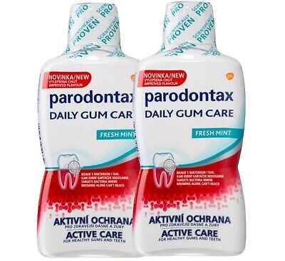 £15.90 • Buy Parodontax Daily Gum Care Fresh Mint Complete Protection  Mouthwash 2X 500ML