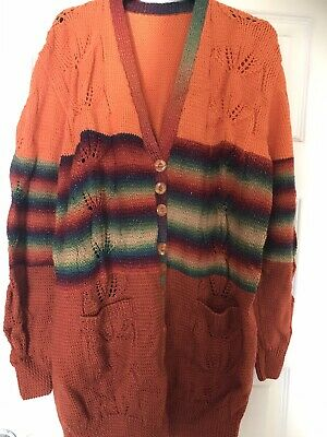 Hand Knitted Ladies Cardigan 16/18 • 22£