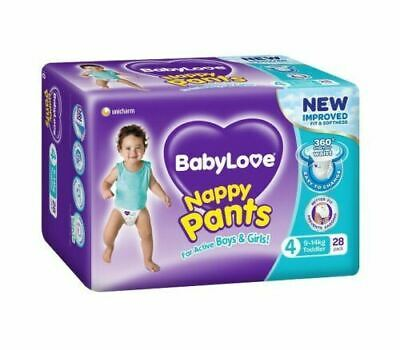 AU31.14 • Buy BabyLove Nappy Pants Toddler (9 To 14kg) X 28 (Limit 2 Per Order)