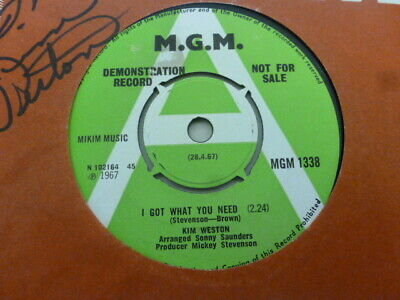 Kim Weston I Got What You Need  1967 M.g.m Demo + Signed Sleeve Excellent Rare • 34.33£