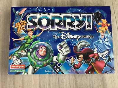 Disney Edition Board Game - Sorry  By Waddingtons - 100% Complete • 11.50£