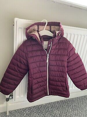 Kids Girls Next Down Jacket Coat Age 4 Years Maroon • 4£