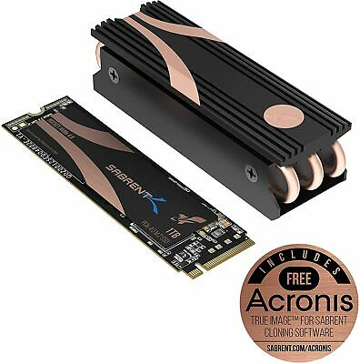Sabrent 1TB Rocket Nvme PCIe 4.0 M.2 2280 Internal SSD Maximum Performance Solid • 149.99£