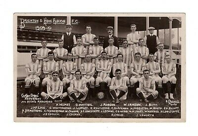 Brighton & Hove Albion Fc Team Photo Football Rp Postcard 1909/10 Carter Bros • 14.99£