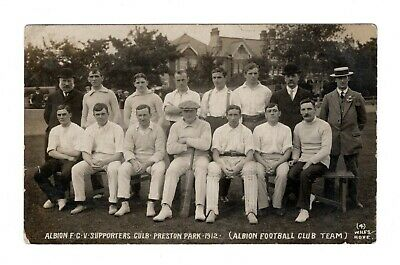 Brighton & Hove Albion Team Rare Football Cricket Rp Postcard Preston Park 1912 • 14.99£