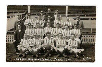 Brighton & Hove Albion Fc 1919/20 Football Team Photo Rp Postcard 1919/20 Wiles • 9.99£