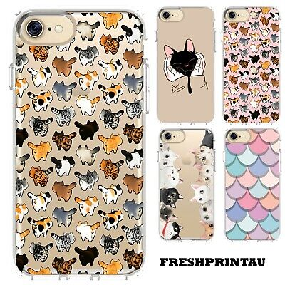 AU15.50 • Buy Case Cover Silicone Cute Kawaii Kittens Cat Collage Happy Colourful Kitty Pet