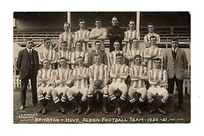 Brighton & Hove Albion Fc 1920/21 Football Team Photo Rp Postcard Wiles • 9.99£
