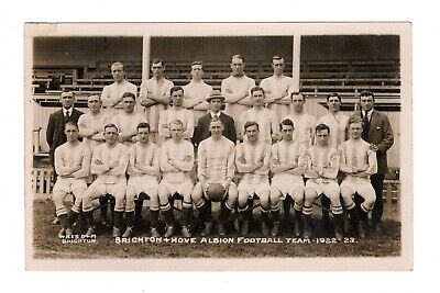 Brighton & Hove Albion Fc 1922/23 Football Team Photo Rp Postcard Wiles Vintage • 9.99£