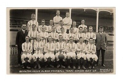 Brighton & Hove Albion Fc 1923/24 Football Team Rp Postcard Camera Exchange • 9.99£
