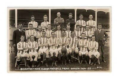 Brighton & Hove Albion Fc 1924/25 Football Team Rp Postcard Camera Exchange  • 9.99£
