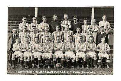 Brighton & Hove Albion Fc 1930/31 Team Photo Football Rp Postcard Seagulls • 9.99£