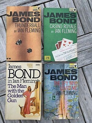 James Bond 007 Ian Fleming Pan Paperback Thunderball Casino Royale Etc • 10£