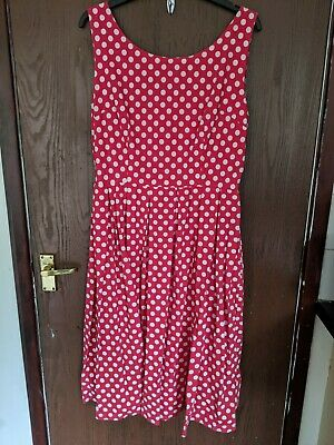 Gorgeous Lindy Bop Size 16 Red And White Polka Dot Dress • 2.30£