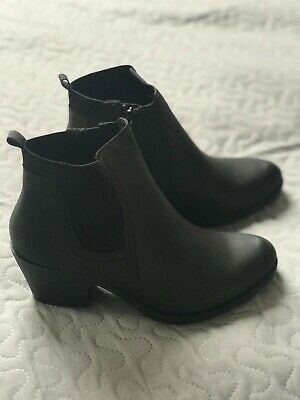Womens Ankle Chelsea Boots Ladies Block Heels Platform Chunky Shoes Size Uk 3-8 • 9.99£