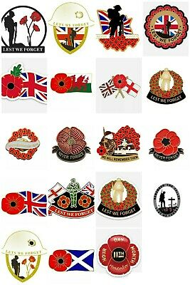 £3.25 • Buy Poppy Lapel Badges/stickers Remembrance Day Donation To Help For Heroes