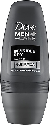 Dove For Men Plus Care Invisible Dry Roll-On Anti-Perspirant Deodorant 50ml Pack • 8.04£