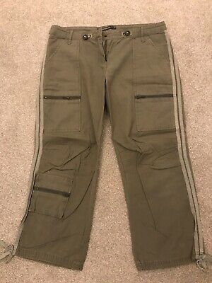 Khaki Coloured Cropped Trousers From River Island. Size 10 • 2.50£