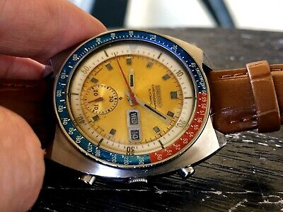 $ CDN291.70 • Buy Oct 1976 SEIKO Automatic Chronograph 6139-6002 Pepsi Pogue English French WORKS