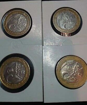 Complete Set Of 4 Commonwealth Games £2 Pound Coins Inc Northern Ireland • 52£