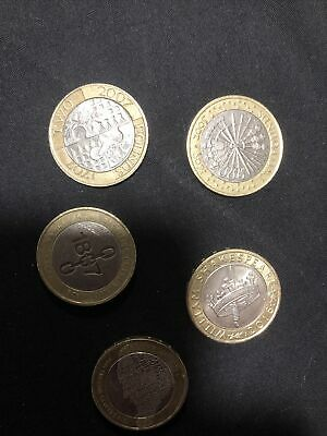 2 Pound Coin Job Lot Shakespeare And Dickens Etc • 10.50£