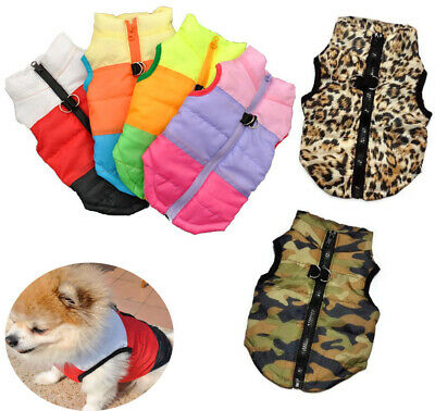 Pet Dog Coat Jacket Padded Clothes Puppy Outfit Puppy Small Dog Vest • 6.90£