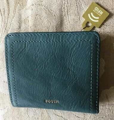 Fossil Small  Logan Teal Leather Rfid Wallet Bnwt ( B15) • 17.70£