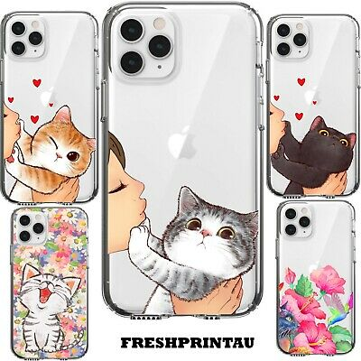 AU15.50 • Buy Case Cover Silicone Cute Kawaii Kitten Grumpy Cat Happy Colourful Kitty Pet Meow