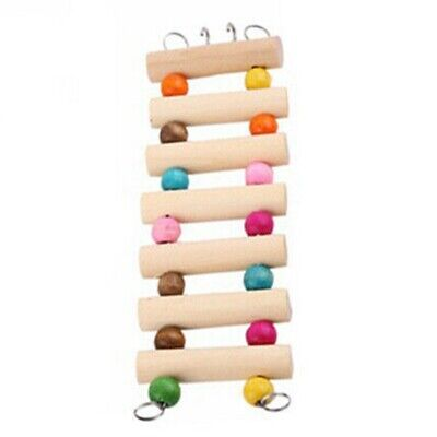 Wooden Bird Hamster Climbing Ladder Swing Bridge Pet Parrot Rat Play Toy • 1£