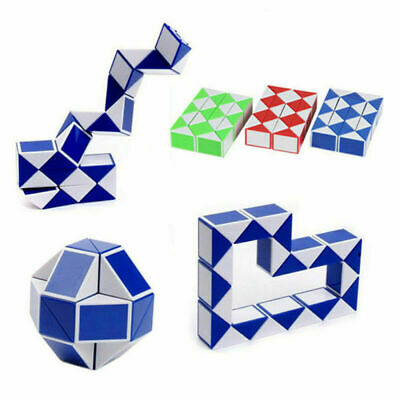 Mini Puzzle Snake Party Bag Stress Relief Toy 3D Cube Kid Novelty Brain Game UK • 2.40£