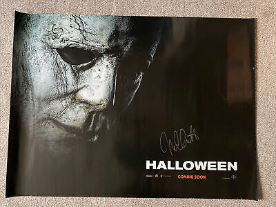 Halloween 2018 U.K. Cinema Quad Poster Signed By Nick Castle (mondo Int) • 59.99£