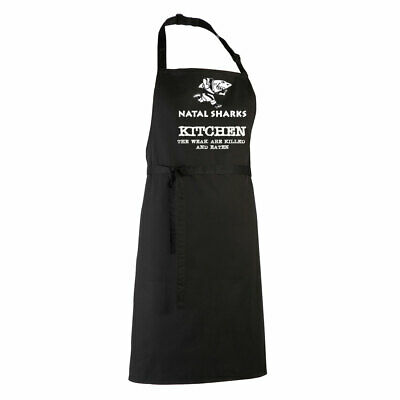 £14.95 • Buy NATAL SHARKS Rugby Chefs Kitchen / Barbeque Apron (black)
