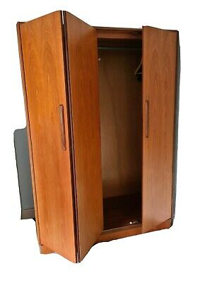 Vintage Mid Century G PLAN FRESCO Teak Triple Door Wardrobe • 65£