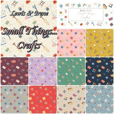 £3.85 • Buy Lewis & Irene Fabric Small Things CRAFTS 100% Cotton Patchwork Knit Quilt Art