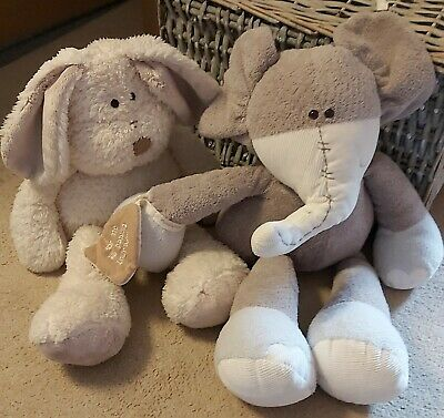 Mamas & Papas Once Upon A Time Soft Animal Toys, Rabbit & Elephant • 2.90£