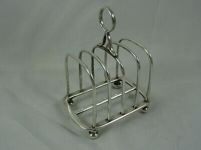 QUALITY Solid Silver TOAST RACK, 1935, 142gm - WALKER & HALL  • 4£