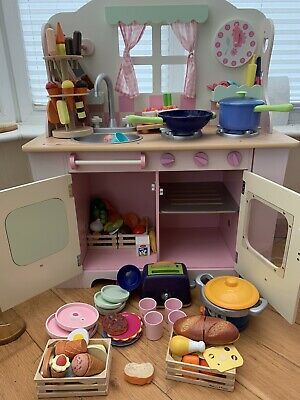 Elc Wooden Kitchen With Accessories • 40£