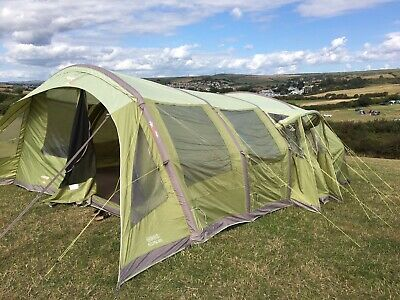 Vango Eclipse 600 Air Beam Inflatable Tent Poly Cotton 6 Person Tent • 300£