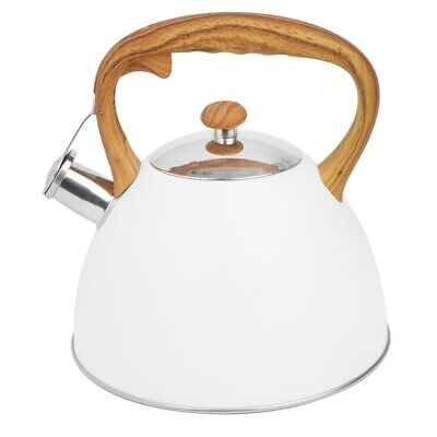 Whistling Kettle Induction 3 L Stainless Steel White Stove Top Kettle  Gas Aga  • 23.50£