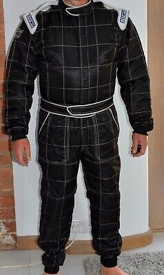 Sparco Race Suit Black XL - Excellent Condition, Barely Used, Complete With Bag • 75£